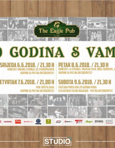 plakat_the_eagle_pub_djakovo_20_godina